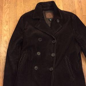Lauren Ralph Lauren Corduroy Lined Pea Coat